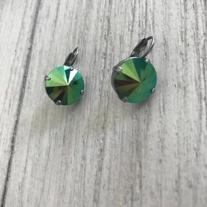 Sabika grand parlor drop green earrings